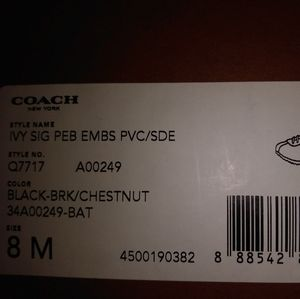 Coach Women's Shoes (Brown and white)
